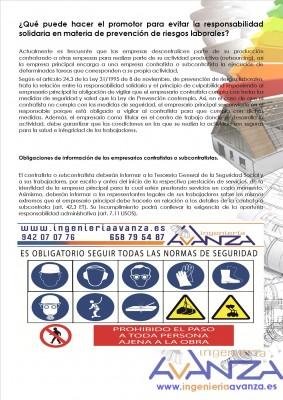 Evitar la responsabilidad solidaria en materia de prevencion de riesgos laborales 1